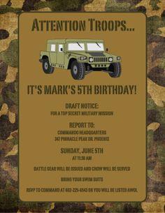 Army invite
