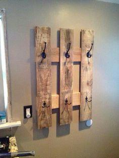 Love this as a towel rack! Or multiple hooks as a coffee mug rack!
