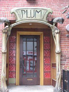 Art nouveau door, Toronto, Ontario, Canada