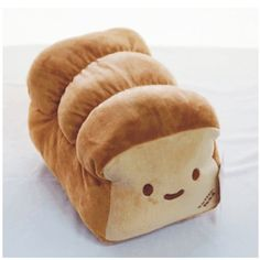 Kawaii Dual Face Bread Pillow Bed Cushion Gift Items Plush 10"