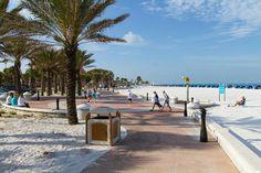 Clearwater Beach Florida, Beach Walk