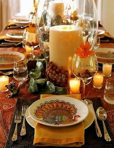 Ѽ Thanksgiving table setting