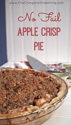 This is my Go-To recipe for apple pie. It's the perfect combo of apple crisp and pie. It's never failed me yet!