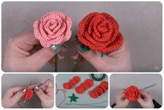 tutorial rose a uncinetto. ﻬஐCQஐﻬ #crochet #spring #crochetflowers #flowers