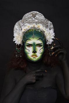 Sesión maquillaje fantasía — en Colors-Up Escuela de Maquillaje Profesional.