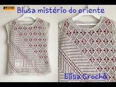 Versão destros: Blusa mistério do oriente em crochê (2° parte )# Elisa Crochê - YouTube