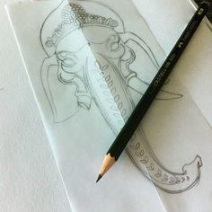 Work hard, play hard ! #draw #drawing #ganesh #ganesha #head #art #pencil #sketch #sketching #instartist #elephant #tattoo #tattoos #dessin #tete #visage #crayon #esquisse #croquis