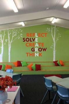 Modern Classroom, Classroom Setting, Classroom Design, Classroom Displays, Classroom Wall Quotes, Classroom Walls, Classroom Decor, Vinyl Wall Quotes, School Classroom