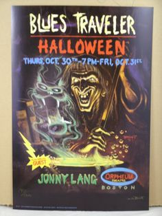 Blues Traveler Poster with Jonny Lang Boston Halloween 1997 Signed and Numbered  by Bill Brent by MoviePostersAndMore on Etsy