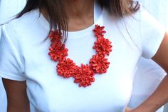 Tutorial: Kate spade inspired Floral Statement Necklace - dollar store craft