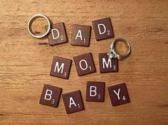 Baby announcement scrabble style Pregnancy Announcement Pictures, Scrabble, Potatoes, Personalized Items, Style, Bebe, Swag, Potato, Pregnancy Announcement Photos