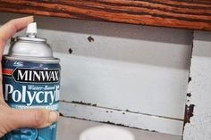 How To Paint Furniture | Old World Chippy Distressed Paint Finish | Ana White - Homemaker. seal to prevent further flaking from milk paint