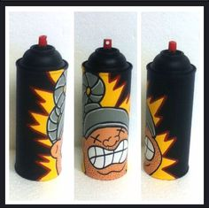 Garbage pail kids Fryin Brian / Electric Bill  painted spray can art on Etsy, $24.99