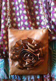 Cross-over bag with Flower. Perfect for those lighter days!