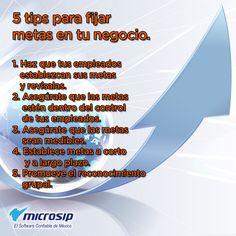 #TipsMicrosip 5 tips para fijar metas en tu negocio.