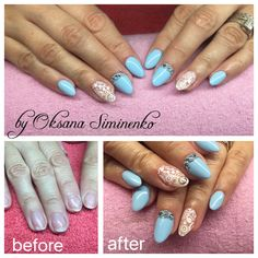 Gel nail extensions on forms for Ilona.M