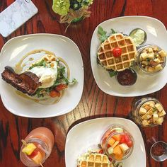 """""""Happy early Saturday morning!  Start your day with a visit to #thewaffleexperience - pic courtesy @sunkissed_kris // Waffles errday  #farmtofork #sacramento #thewaffleexperience #praisethelard #piglatin #wefoundthebeef #sacramentofoodie #instagood #instapic #delicious #fresh #foodstagram #foodporn #hungry #franchise #dailyfoodfeed #nomnom #farmtofork #forkyeah #visitsacramento #sacramentoeats #eatfamous #foodbeast"""" via @thewaffleexperience"""