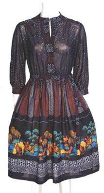 Sheer Black Vintage 1970s Dress from Nelda's Vintage Clothing $49.00  #VCAT