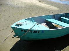 we all should have a turquoise boat