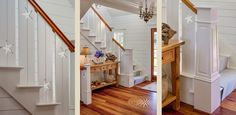 Photos of fine Cape Cod Homes - Paradise Cove - Cape Cod Architects. Wood panels and floor and trim colors
