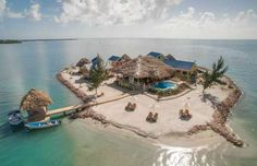 Exclusive PRIVATE ISLAND Custom Home Minutes From Center Of Placencia Village. Amazing brand new custom high end 5 bedroom, 6 bath home on private-island. Dream Vacations, Vacation Spots, Vacation Rentals, Resorts, Marie Galante, Share Pictures, Island Resort, Island Life, Big Island