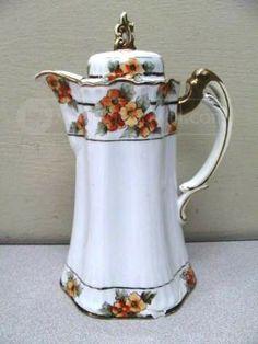 """Noritake 1910-20s Handpainted Nippon """"M"""" Morimura Teapot"""