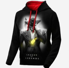 League of Legends Twisted Fate hoodie for men LOL game black sweatshirt