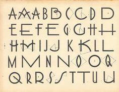Art du tracé rationnel de la lettre (1934)