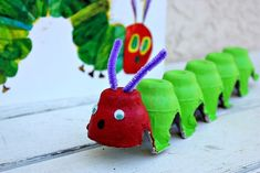 The Very Hungry Caterpillar... Great connections to literature, could also be used as connection to science, butterfly life cycle!