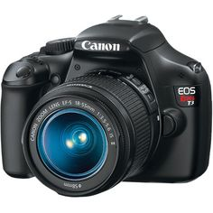 """$549.99 Canon EOS Rebel T3 Digital Camera       12.2MP APS-C CMOS Sensor      18-55 EF-S Lens Included      SD/SDHC/SDXC Memory Card Slot      DIGIC 4 Imaging Processor      2.7"""" Clear View LCD      720p HD Movie Mode      100-6400 ISO      Compatible with Canon EF and EF-S Lenses      63 Zone Dual-Layer System / 9 Point AF      3 fps Continuous Shooting"""