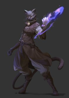 Cat Character, Fantasy Character Design, Character Drawing, Character Design Inspiration, Character Concept, Fantasy Races, Fantasy Rpg, Fantasy Artwork, Dungeons And Dragons Characters