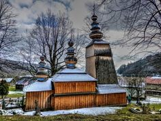 Wooden churches in Slovakia, Hunkovce village Czech Republic, Hungary, Europe, Cabin, Explore, House Styles, Travel Ideas, Pictures, Painting