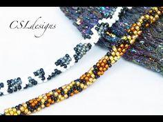 Leopard print beaded kumihimo bracelet - YouTube