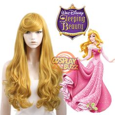 Sleeping Beauty Princess Aurora Long Golden Blonde Anime Cosplay Wig in Clothes, Shoes & Accessories, Women's Accessories, Wigs, Extensions & Supplies Sleeping Beauty Costume, Sleeping Beauty Princess, Disney Sleeping Beauty, Cosplay Hair, Cosplay Wigs, Anime Cosplay, Disney Trips, Walt Disney, Anime Wigs