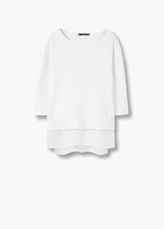 Sweat-shirt base contrastante