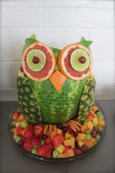 Made for Goddaughter's owl themed baby shower.
