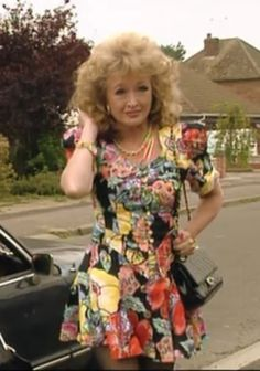 The Many Outfits of Rose from the show Keeping up Appearances Screenshot British Tv Comedies, British Comedy, British Actresses, British Actors, Actors & Actresses, English Comedy, Cool Tights, Keeping Up Appearances, Bbc Tv
