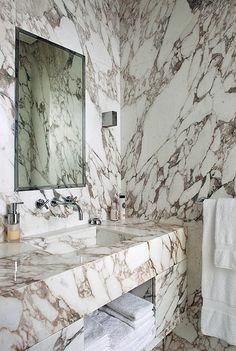 luxurious bathrooms by a design maestro: yes, it's pierre yovanovitch and, of co… – Marble Decoration Bad Inspiration, Bathroom Inspiration, Pierre Yovanovitch, White Marble Bathrooms, Casa Clean, Boffi, Diy Décoration, Beautiful Bathrooms, Luxurious Bathrooms