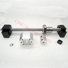 SFU1605 set:SFU1605 L400mm rolled ball screw C7 with end machined + 1605 ball nut + nut  housing+BK/BF12 end support + coupler #men, #hats, #watches, #belts, #fashion, #style