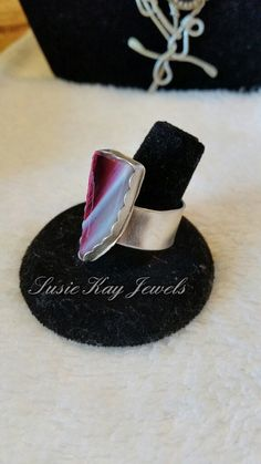 Check out this item in my Etsy shop https://www.etsy.com/listing/233675452/pink-geode-ring