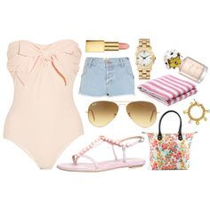 beach :) by danielle-milton on Polyvore