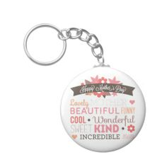 Happy Mother's day typography design Key Chain