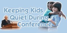 A list of ideas for keeping kids quiet during conference