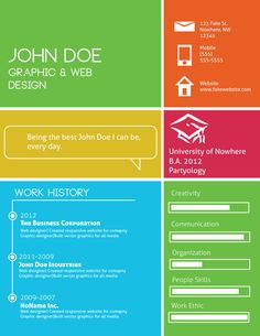 The 90 best CV Infographic images on Pinterest | Page layout, Resume ...