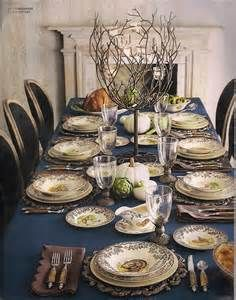 tablescape with spode woodland and blue tablecloth - Bing images & For Thanksgiving dinner : Spode \u0027Woodland\u0027 dinner service. The ...