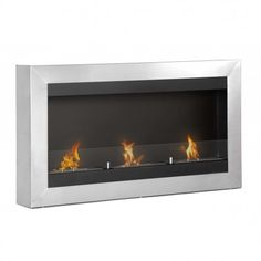 Magnum Wall Mounted Ethanol Fireplace | Ignis Products