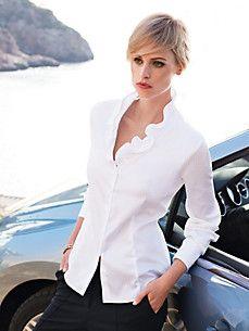White Blouses at Peter Hahn Blouses For Women, Bell Sleeve Top, White Blouses, Tunic, Tops, Fashion, Velvet, Scale Model, Moda