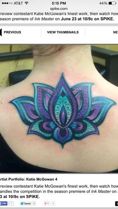 Lotus by InkMaster contestant Kate McGowan