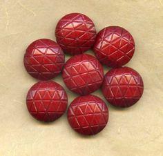 Vintage W German Barn Red Lucite Beads 18x9mm by PickleValentine, $6.00