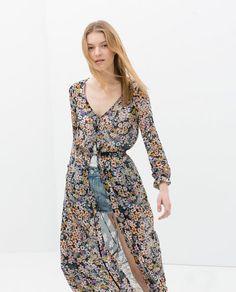 ZARA - NEW THIS WEEK - FLOWER PRINTED DRESS